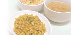 食物アレルギー特定原材料等27品目と貝類不使用のレトルト食品