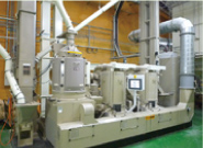 Rice polishing factory