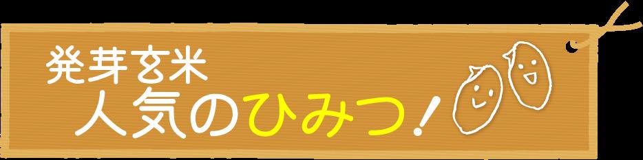 発芽玄米人気の秘密!